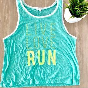Live Love Run Mint Workout Tank